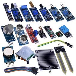kuman 16 in 1 Modules Sensor Kit Project Super Starter Kits