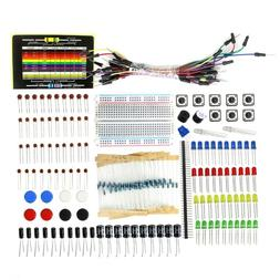 1 Set Starter Kit Resistor LED Capacitor Breadboard Resistor