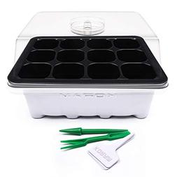 KORAM 10 Set Seed Tray Seedling Starter Trays Plant Grow Sta