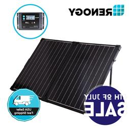 Renogy 100W 12V Foldable Mono Solar Panel Suitcase Kit w/ 20