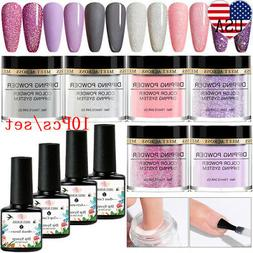 10Pcs/Set MEET ACROSS Nail Art Dip Dipping Powder Liquid Pro
