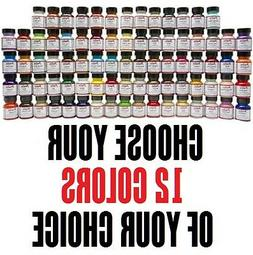12 colors of your choice 1oz Angelus Acrylic Paint Leather V