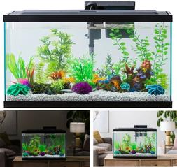 29-Gallon Fish Aquarium Starter Pack with LED Fish Tank Aqua