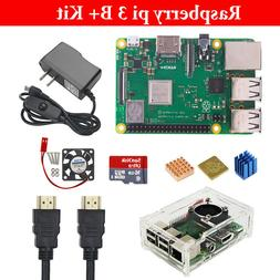 Raspberry Pi 3 B+ B Plus Starter Kit Case + HDMI + Power Ada