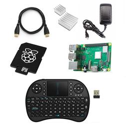 Raspberry Pi 3 B+ PLUS Pro Starter Kit Wireless Keyboard , H