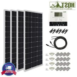 400 Watt Mono Solar Panel Kit 400W 12V RV Boat Off Grid Batt