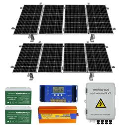400W 800W Watt 24 Volt Complete Solar Panel System For Home