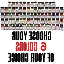 6 colors of your choice 1oz Angelus Acrylic Paint Leather Vi
