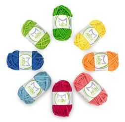 Mira Handcrafts 8 Acrylic Yarn Multicolor Skeins - DK Yarn S