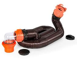 Camco RhinoFLEX 15ft RV Sewer Hose Kit, Includes Swivel Fitt