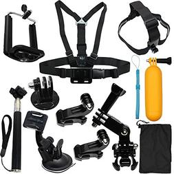 Camera Accessories Kit Starter Bundle for GoPro Hero 5 Sessi