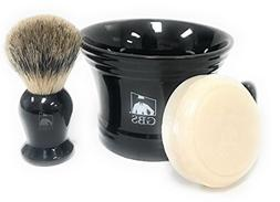 GBS Men's Classic Wet Shaving Old School Grooming Set - Pure