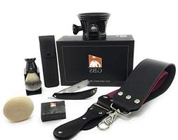 GBS Premium Black Edition Horn Shave Ready Carbon Steel Stra