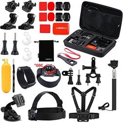 Luxebell Outdoor Sports Camera Accessories Kit for Gopro Her