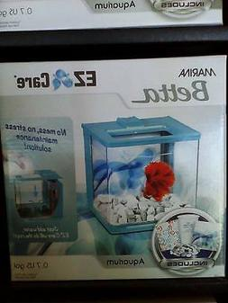 Marina Betta Aquarium Starter Kit, Blue Swirl New