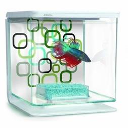 Marina Betta Aquarium Starter Kit Geo Bubbles Plus Live Plan