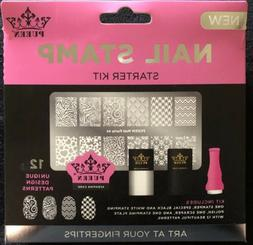 Pueen Nail Stamp Starter Kit Nail Art Nail Party 01 New in B