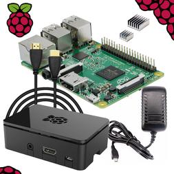 Raspberry Pi 3 Complete Starter Kit: Power Adapter, HDMI,Pre