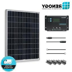 Renogy 100W 12V Solar Panel Starter Kit 10A LCD Charge Contr