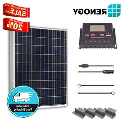 Renogy 100W 12V Solar Panel Starter Kit 30A LCD Charge Contr