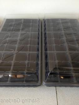 Seed Starting Kit,  2 Seed Trays, 2 Inserts, 2 Dome Lids, Se