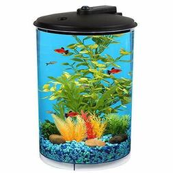Koller Products Aquaview 3 Gallon 360 With Power Filter & Le