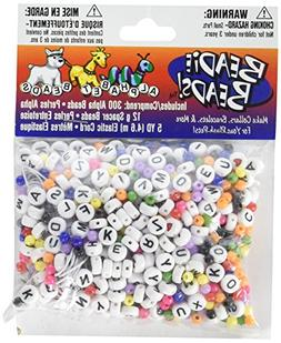 Darice BAB-15 Black and White Alpha Bead Starter Kit with Mu