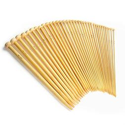 LIHAO 36 PCS Bamboo Knitting Needles Set