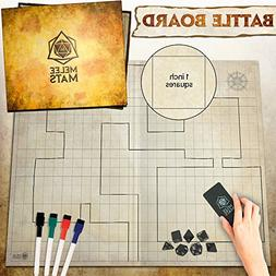 """The Original Battle Grid Game Board - 27"""" x 23"""" - Dungeons a"""