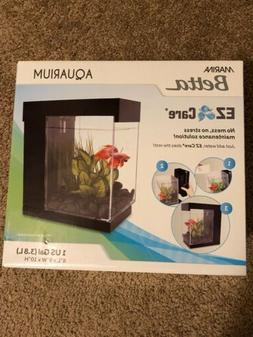 Marina Betta EZ Care 1 us-Gallon Aquarium Starter Kit, White