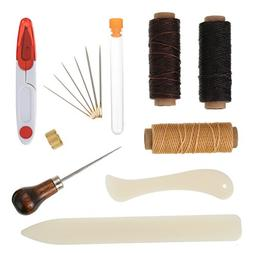 Shappy 15 Pieces Bookbinding Kit Starter Tools Set Bone Fold