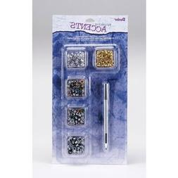 Bulk Buy: Darice DIY Crafts Eyelet Starter Kit with Tool 1/8