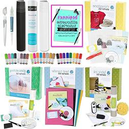 Silhouette Cameo Starter Kit Bundle with 4 Kits, 24 Sketch P