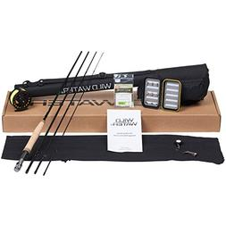 Wild Water Fly Fishing Rod and Reel Combo 4 Piece Fly Rod 5/