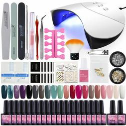 complete gel nail polish kit 20 colors