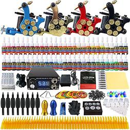 Solong Tattoo® Complete Tattoo Kit 4 Pro Machine Guns 54 In