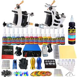 Tattoo Complete Starter Beginner Tattoo Kit 2 Pro Machine Gu