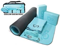 Live Infinitely Complete 6 Piece Yoga Set by 6mm Dual Layer