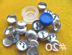 Cover Button Starter Kit Wire Back Buttons w/clear tool hand