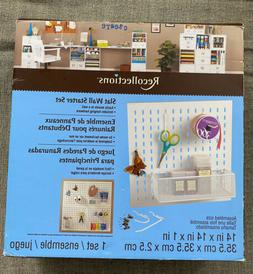 """Craft Slat Wall Starter Kit 14"""" x 14"""" Pegboard With Acce"""