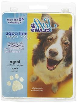 Soft Claws Dog and Cat Nail Caps Take Home Kit, Large, Natur