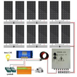 ECO-WORTHY 2KW 1KW Off Grid Complete Solar Panel Kit For Hom