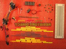 Electronic Project Starter Kit D Basic BreadBoard,Wire,LED,R