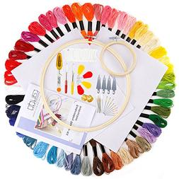 Caydo Embroidery Starter Kit with Operating Instructions for