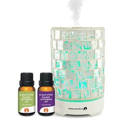 Essential Oils Starter Kit - Silver Crystal Ultrasonic Diffu