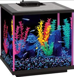 Aqueon Fish Aquarium Starter Kits LED NeoGlow 7.5 gallon