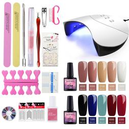 Coscelia Soak Off Gel Nail Polish Starter Kit with 36W UV/LE