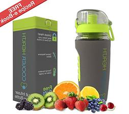 Fruit Infuser Water Bottle - FREE Infusion Recipe eBook & An