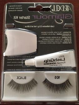 ARDELL GLAMOUR LASHES STARTER KIT 105 BLACK NEW IN PKG