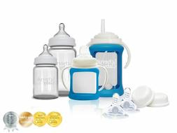Cherub Baby Glass Baby Bottle Starter Kit  - BLUE